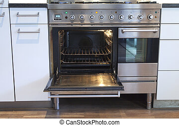 Open ventilation oven - Open oven with hot air ventilation