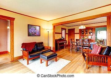 Open wall design interior
