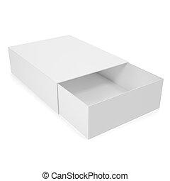 Open white blank box.