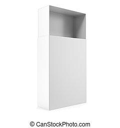 Open white blank box,