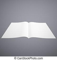 Open white book