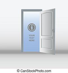 wide open doors. Open White Door Template Wide Doors