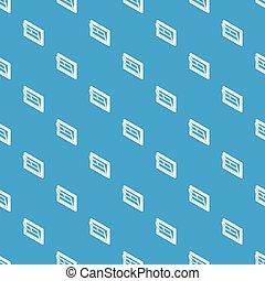 Open window leaf pattern vector seamless blue
