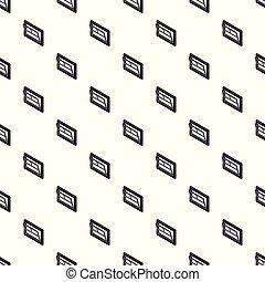 Open window leaf pattern vector seamless
