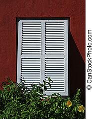 Open Window shutters - red