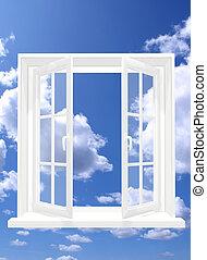 Open window - Conceptual image - window in sky