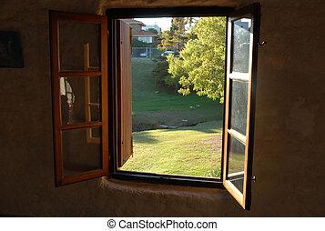 Open window to the garden