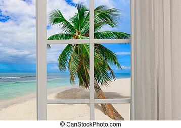 open window to the sea