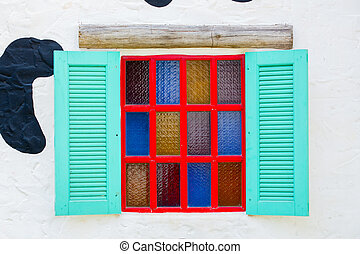 Open Window With On white Wall