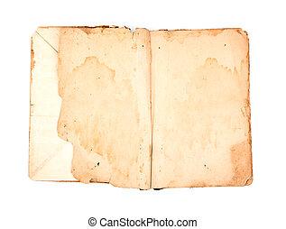open, witte , boek, oud, achtergrond