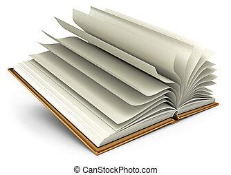 open, witte , boek