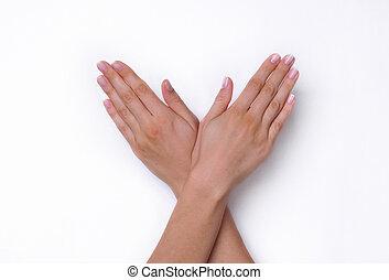Open Woman Hands