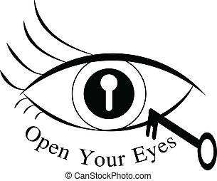 open your eyes vector illustration