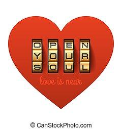 Open your soul love is near