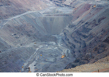 Opencast mining - General view to the iron ore opencast ...