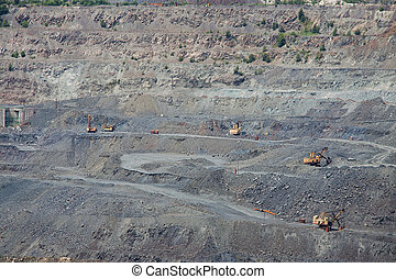 Opencast mining - Iron ore opencast mining - the view to the...