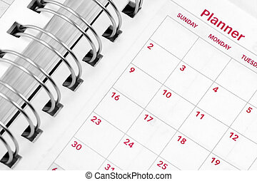 opened agenda - close up opened agenda