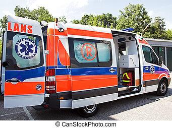 ambulance - opened ambulance side