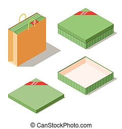 b712c0ed2df2d Gift package closed opened high size. Closed an opened gift package ...