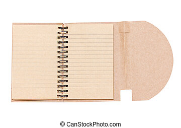 Opened Blank Notebook Isolated on White.