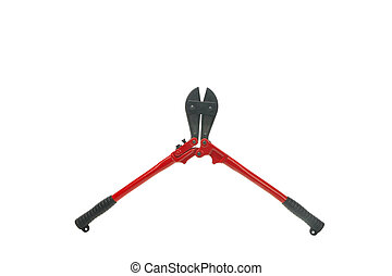 Opened bolt cutters