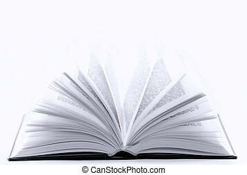 book - opened book on white background