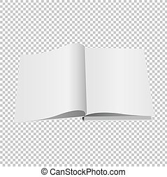 Opened Book Set Isolated Transparent Background