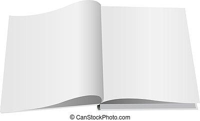 Opened Book Set Isolated White Background