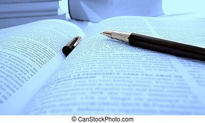 Opened book - Macro image of an opened book