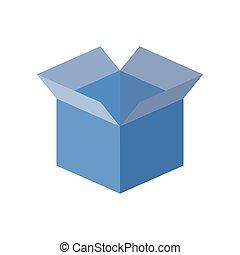 opened box icon, flat style