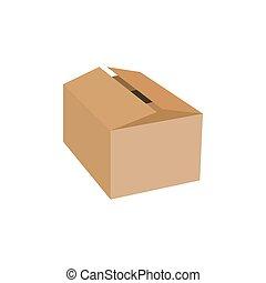 Opened cardboard package box.