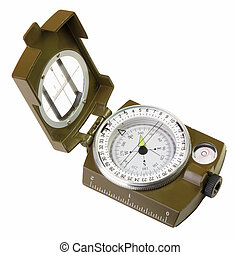 opened compass