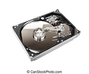 Computer hard disk drive - Opened Computer hard disk drive...