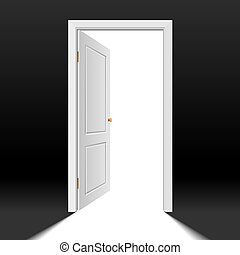 Opened door - Vector photorealistic illustration of an...