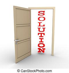 Opened door provides solution