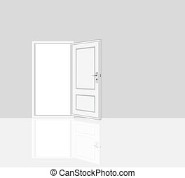 opened door, room interiors - room interiors illustrations...