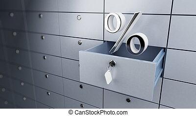 opened empty bank deposit percent - opened empty bank...