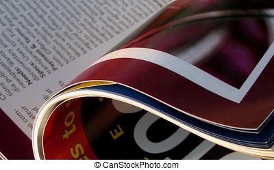 Opened Magazine - an opened photo magazine.