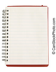 Opened note book