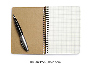 Opened notepad and pen