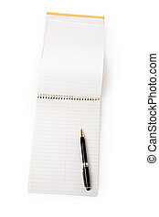 opened notepad
