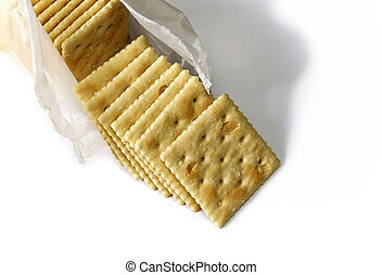 opened package of saltine crackers