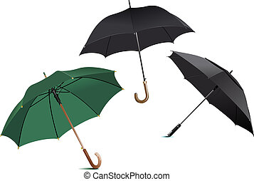 Opened rain umbrella. Vector illustration
