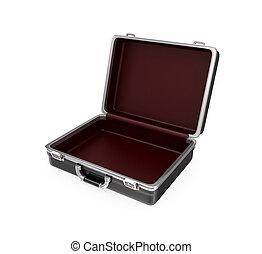 Opened suitcase.