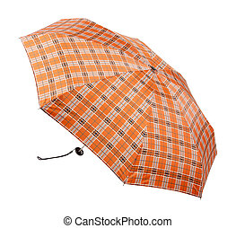 Opened umbrella isolated on white + clipping path.