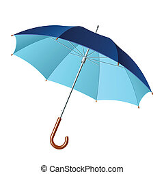Opened umbrella - Vector illustration of a opened umbrella