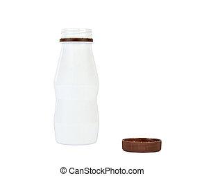 Opened White Plastic Bottle