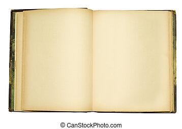 openempty, viejo, libro