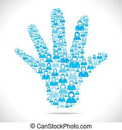 openhand, grupo, pessoas
