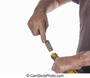 Opening a bottle